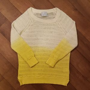 Michael Stars White and Yellow Ombre Knit Pullover
